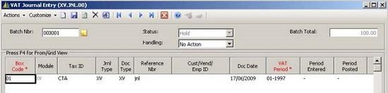 Microsoft Dynamics UK - VAT