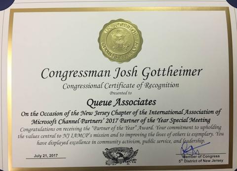 THUMBNAIL_Congressman-Josh-Gottheimer_IAMCP-NJ-Meeting_NJ-Chapter-Partner-of-the-Year-2017_Award-Presentation_07202017_SlickData_Queue-Associates_Microsoft-Gold-Dynamics-Partner_016